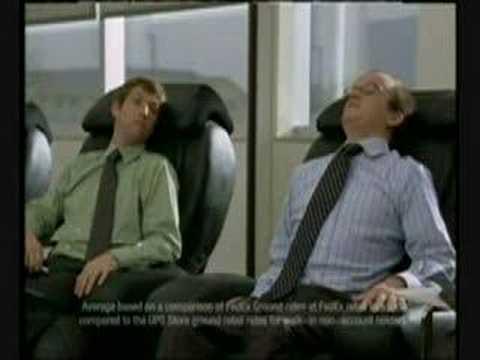 FedEx vibrating chair