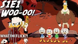 DuckTales Season 1, Episode 1 is reviewed by What The Flick?! Meredith Placko (+10 Pop Culture), Alonso Duralde (TheWrap, ...