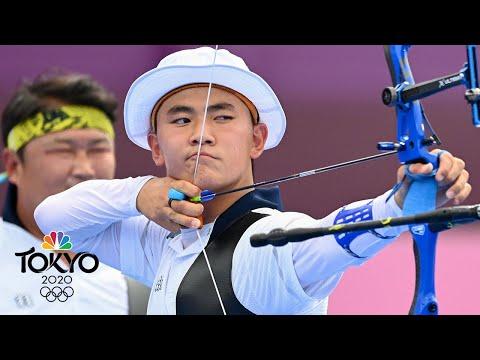South Korea defeats Japan in thrilling head-to-head archery shootout | Tokyo Olympics | NBC Sports