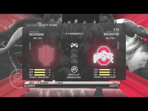 NCAA Basketball 10 (Rosters Updated for 2019 Big Ten Conf.TOURN.) Indiana vs Ohio State