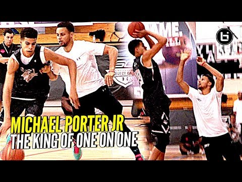 Michael Porter Jr Is The KING of 1 on 1!! Steph Curry Camp Back to Back Champ! (видео)