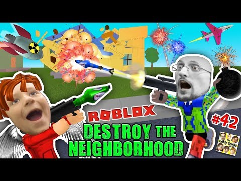 ROBLOX Destroy the Neighborhood w/ Airplane? AWESOME a 💩 Bomb! (FGTEEV Get Rich Destruction #42) (видео)