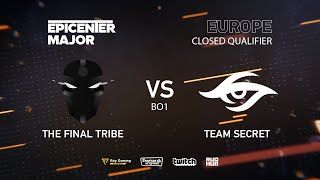 TFT vs Team Secret, EPICENTER Major 2019 EU Closed Quals , bo1 [GodHunt & Inmate]