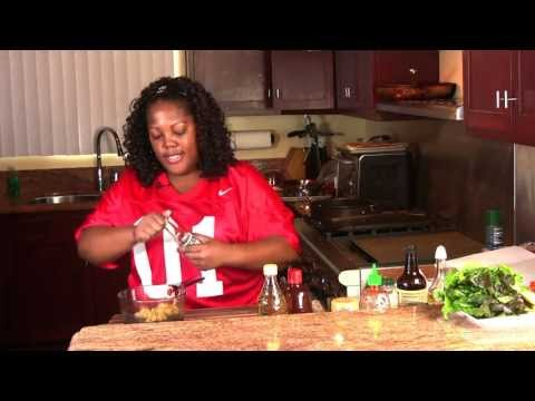 Super Bowl Recipes: Stuffed Bacon Cheddar Burgers & Baked Ginger Sesame Wings (Cooking With Carolyn)