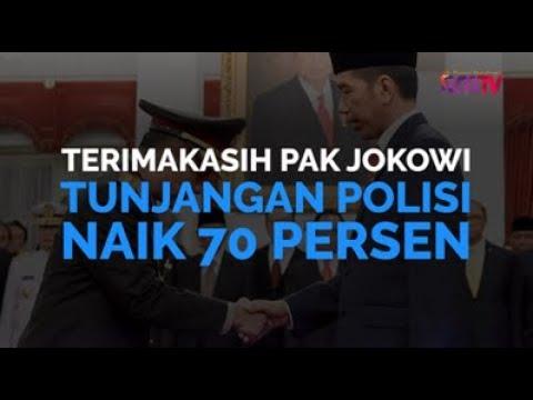 Terimakasih Pak Jokowi, Tunjangan Polisi Naik 70 Persen
