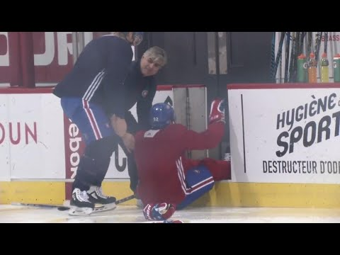 Video: Pacioretty shocked after Drouin unknowingly jumped on ice without skate blades