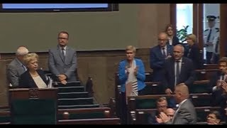 Wystąpienie Pierwszej Prezes Sądu Najwyższego Małgorzaty Gersdorf w Sejmie.