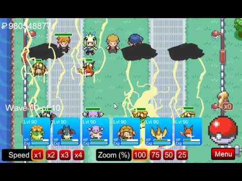 Pokemon Tower Defense: v5.8 Route 17 Zapdos Battle Playthrough Challenge