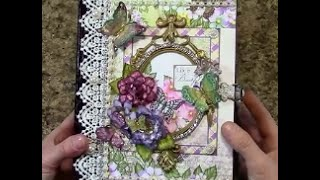 Free step by step tutorial on how to make this 8.5 x 6.5 mini album using Heartfelt Creations Butterfly Medley paper collection - for beginners or seasoned ...