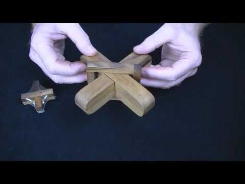 Cross Sticks wood brain teaser puzzle