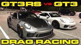 2.7 to 60 MPH! * Porsche GT3RS vs GT3 Drag Racing down the 1/4 Mile with VBOX Data by DragTimes