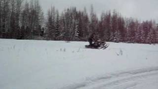7. My buddies 2006 Polaris Fusion/Dragon 600 XR with a Snow Stuff Can just after installation...