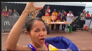 Mary Joy Tabal won the Philippines' first gold medal after a dominating performance in women's marathon Saturday morning August 19, 2017 in Putrajaya, Malaysia