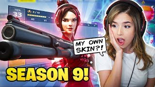 Pokimane Reacts to NEW Fortnite Season 9 + Battle Pass!