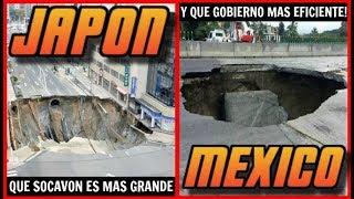"""HEY!!! MAS NOTICIAS SOCAVON!""""Socavon Cuernavaca"""" https://goo.gl/oCHfjG""""La Doñita y el Socavon"""" https://goo.gl/9DS56m""""Peña Opina del Socavon"""" https://goo.gl/RsuWo6""""Que es un Socavon"""" https://goo.gl/khqqJc""""Drone entra en Socavon"""" https://goo.gl/gpbHoH""""Datos del Socavon"""" https://goo.gl/gYY1ni""""Rescate Socavon"""" https://goo.gl/qYtRcp""""Socavon Paso Express"""" https://goo.gl/oL2wo6-----------------------------------------------------------------Socavon de Mexico vs Socavon de JaponEl tema del Socavon (que es el hundimiento de la tierra) se ha vuelto popular en Mexico, debido a que hace unos días cayo un auto donde partieron 2 personas en Morelos México, curiosamente la autopista que presento este fenómeno fue inaugurada y recomendada por el presidente enrique peña nieto. Por lo que rápidamente el gobierno retiro espectaculares que adulaban a peña nieto por la obra. Este mismo fenómeno se ha presentado en varios países, siendo el de Japón uno de los mas populares. El socavon de Fukuoka aparecio el 8 de noviembre del 2016, con un diámetro de 30 metros, tragándose gran parte de la avenida principal. El socavon tenía una profundidad de 15 metros y se origino por el deterioro de un asentamiento de concreto después de 30 años de construido, la gravilla y arena se fueron reduciendo. Los trabajos de reparación en Fukuoka duraron solo 48 horas y eso porque se realizaron chequeos para garantizar la seguridad y la salud de los trabajadores. En las primeras 24 horas Fukuoka reparó una tubería de alcantarillado y sustituyo semáforos y postes que cayeron en el socavón. En las siguientes 24 horas se colocaron vigas de acero y concreto de alta densidad para reparar el socavon. Posteriormente tanto el gobierno como la constructora cooperaron para instalar sensores en las áreas vulnerables, que reportan cualquier reblandecimiento de la tierra. Los comercios afectados fueron indemnizados 2 veces la ganancia del día por hora de trabajo. El socavon de México se origino el 12 de julio del 2017, ten"""