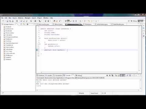 Java Tutorial 48 – abstract mit Methoden