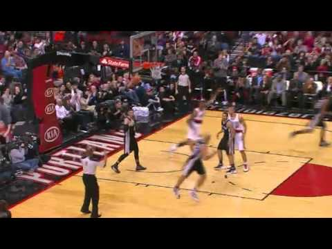 Marcus Camby to LaMarcus Aldridge Dunk against Spurs