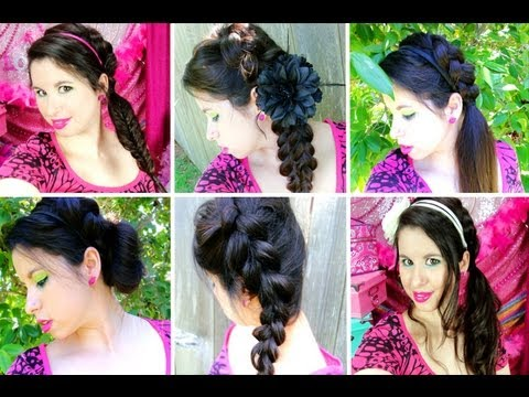 7 Easy Braided Hairstyles for Summer & School!