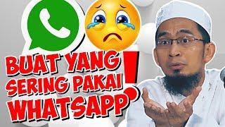 Video Sering Buka Whatsapp?! Ini Saran Ust. Adi Hidayat - Ustadz Adi Hidayat LC MA MP3, 3GP, MP4, WEBM, AVI, FLV Maret 2018