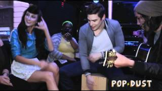 """Karmin perform """"Brokenhearted"""" on the POPDUST Party Bus"""