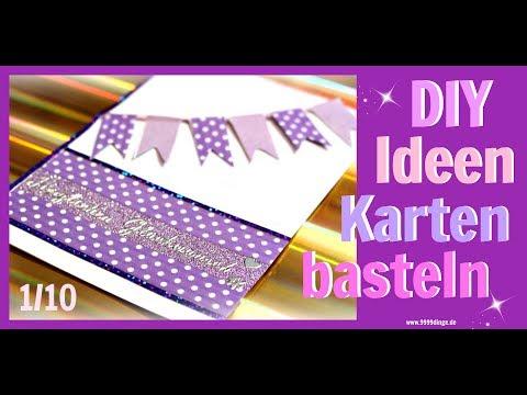 BASTELN MIT PAPIER | Karten gestalten | Geburtstag | Bastelideen DIY Inspiration  | 9999 Dinge