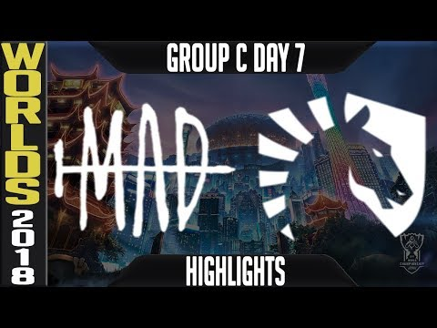 MAD Vs TL Highlights | Worlds 2018 Group C Day 7 | MAD Team(LMS) Vs Team Liquid(NALCS)