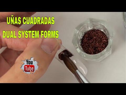 Videos de uñas - UÑAS CUADRADAS/DUAL SYSTEM FORMS/SQUARE NAILS WITH DUAL SYSTEM FORMS