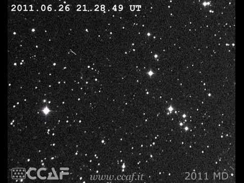Asteroid 2011MD swings by