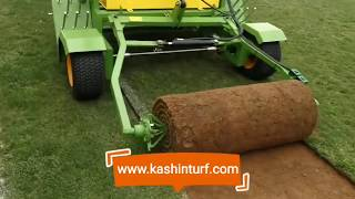 Big Roll Harvester, Turf Harvester, Lawn Harvester, Turf Cutter Made in China youtube video