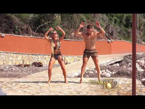 Teodora Džehverović vežba na plaži sa fitnes trenerom