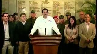 Vicepresidente Maduro informa el fallecimiento de Chávez