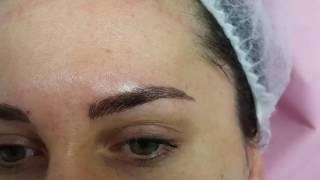 Freshly Microbladed Eyebrows