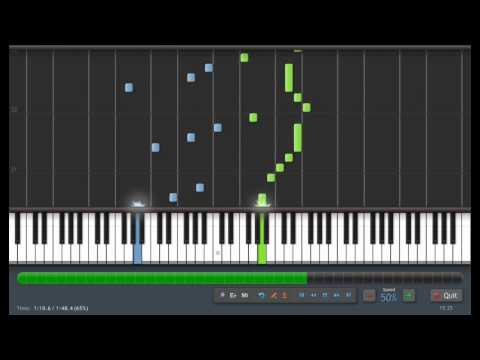 Beethoven: Fur Elise (50% Speed) Piano Tutorial (Synthesia) + Sheet Music