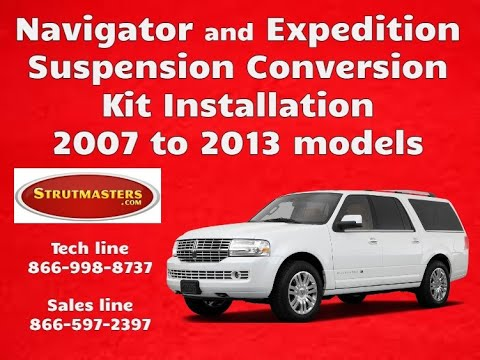 2007-2008 Ford Expedition & Navigator With A Strutmasters Air Suspension Conversion (Install Video)