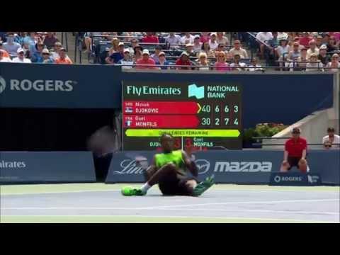 Novak Djokovic And Gael Monfils Funny Points Toronto 2014 ( Full HD )