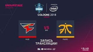 FaZe vs fnatic - ESL One Cologne 2018 - map2 - de_mirage [ceh9, Enkanis]