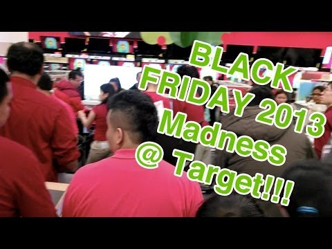 Black Friday 2013 Target Madness!!! (Electronics)