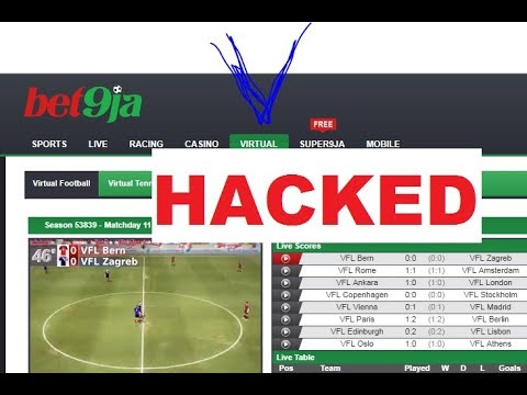 HACK BET9JA VIRTUAL FOOTBALL AND PREDICT OUTCOME LIVE!!