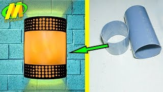 Video Small capital home business makes wall lights from PVC pipes MP3, 3GP, MP4, WEBM, AVI, FLV November 2018