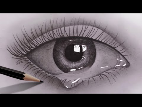 Play this video How to draw realistic eyes for beginners with pencil  Pencil Sketch Video  Easy to draw