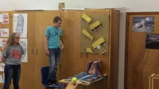 7th graders made a Rube Goldberg Machine
