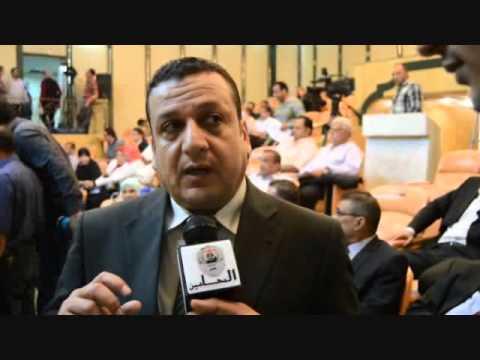 محامين اتحاد الإذاعة والتليفزيون في مؤتمر مع نقيب المحامين