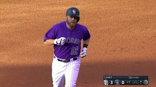 Mark Reynolds puts the Rockies on the board as he clubs a three-run smash to center field in the bottom of the 1st Check out ...
