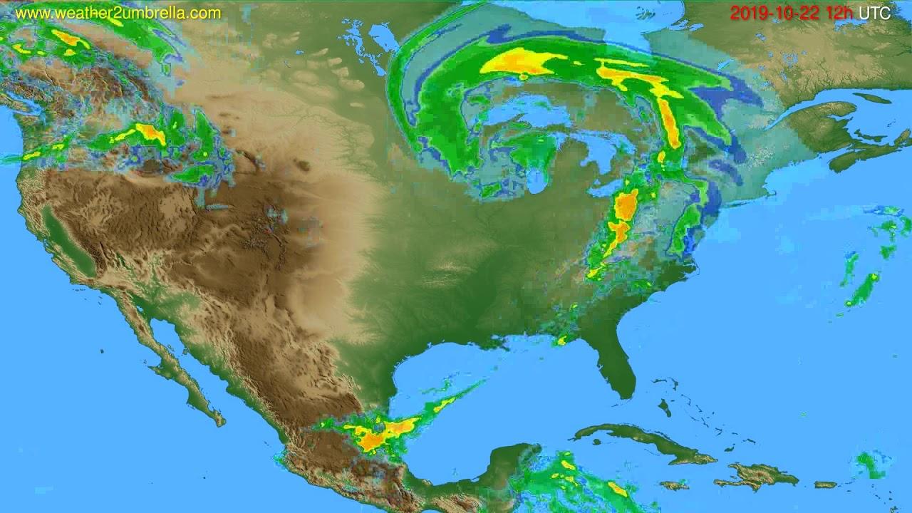 Radar forecast USA & Canada // modelrun: 00h UTC 2019-10-22