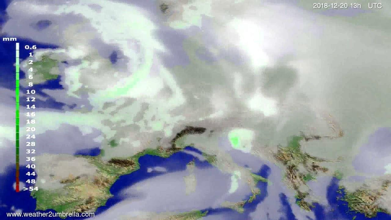 Precipitation forecast Europe 2018-12-17