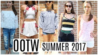 OOTW OR Outfits of the week! Summer 2017, June! Super Trendy, stylish and cute outfits for the summertime. Summer outfit ideas & inspiration for you guys! Please subscribe to be updated when I post a video! Love u guys all so much and hope everyone is have a amazing day. Love u chicas!Links to clothes that I wore & could find  below:https://goo.gl/WEhsAE  (Romwe site link)Roses 2-piece: https://goo.gl/uUaPdPStriped Cami Top: https://goo.gl/4Z1cXKStriped Romper: https://goo.gl/byVYD4Pink Velvet Cami: https://goo.gl/7qS69Shttp://bit.ly/2pyK3pp (SheIn site)http://bit.ly/2rs07t3 (Petal Applique Sheer Trumpet Sleeve Keyhole Bardot Top)http://bit.ly/2rIDX6m (Blue Off The Shoulder Bell Sleeve Velvet Blouse)http://bit.ly/2rBdS7c (Black Ruffle Off The Shoulder Embroidered Bell Sleeve Top)if ur a company, wanting to reach me:claudiacasey972@gmail.com vlog channel: https://www.youtube.com/channel/UC5U8HKZOmaaAHJTLUGOrc_gInstagram:https://www.instagram.com/claudiacasey972/Twitter: https://mobile.twitter.com/accountoctoly sign up link & get 5 points: https://www.octoly.com/youtubers?yt_ref=hat0mif Camera I use: Canon Rebel T5I