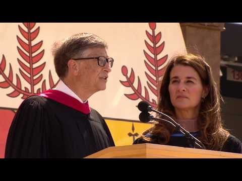 gates - At Stanford's 123rd Commencement, Bill and Melinda Gates, co-chairs of the Bill & Melinda Gates Foundation, urged graduates to change the world through optim...