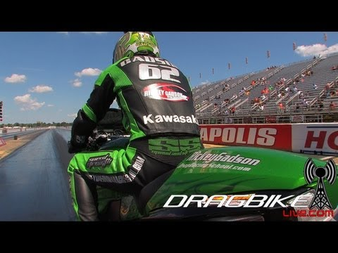 ZX14R blows body off and still wins race with Rickey Gadson!