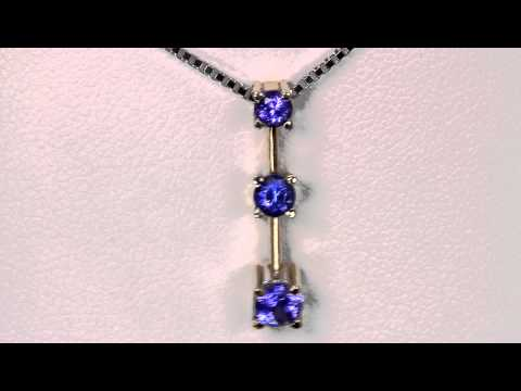 Pendant With 3 Tanzanite ..73 Carat Includes Chain