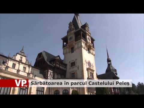 Sărbătoarea în parcul Castelului Peleș